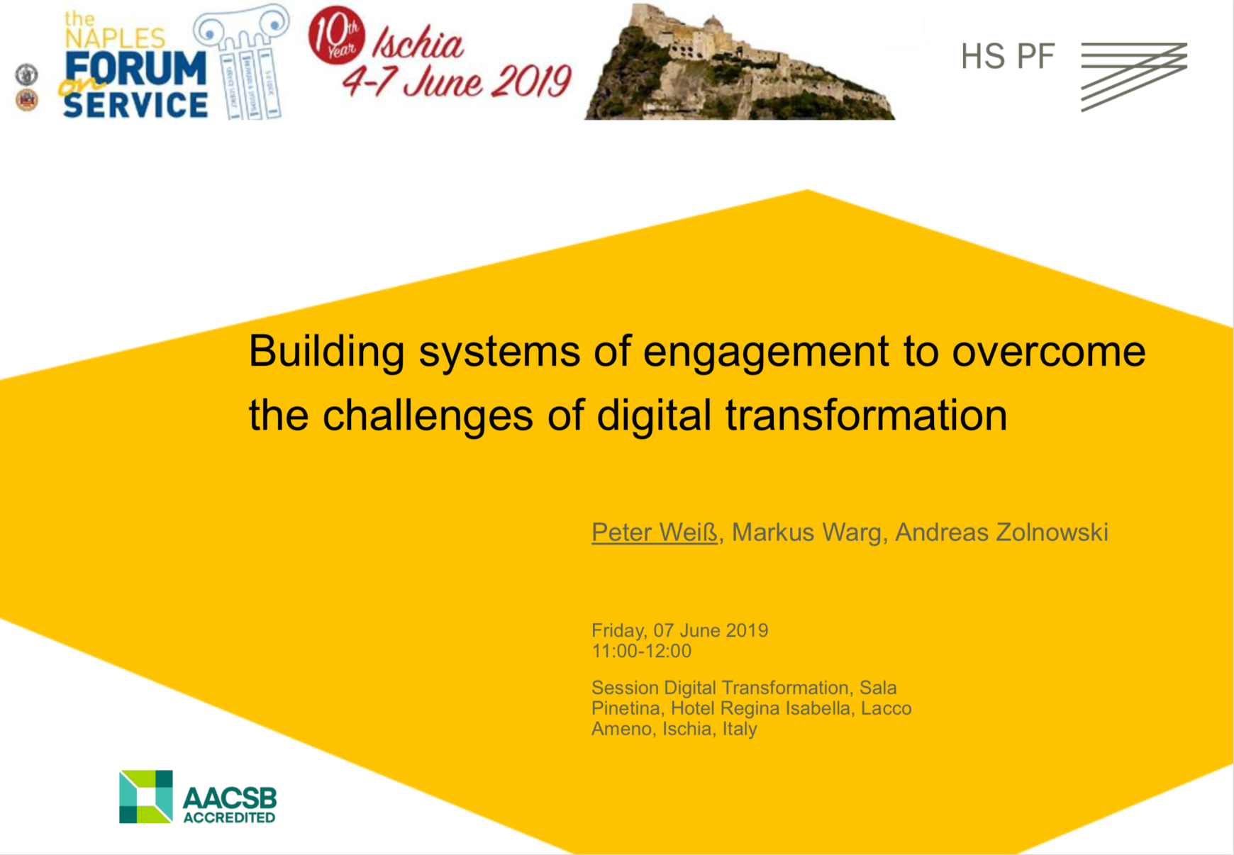Naples 2019 Building Systems of Engagement
